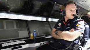 El jefe de Red Bull, Christian Horner, en el pasado Gran Premio de...