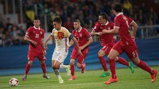 Denis Suárez ante Serbia