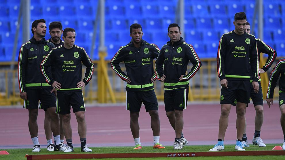 Entrenamiento de la selección mexicana este viernes en Kazán.