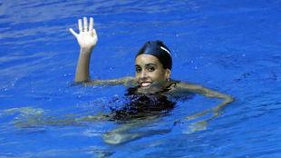 Ona Carbonell durante un entrenamiento.