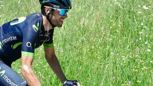 Alejandro Valverde durante una etapa de la Dauphiné.