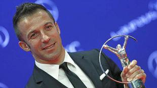 Del Piero, en los Premios Laureus de 2016.