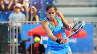 Mapi Sánches Alayeto en la semifinal de Valladolid.