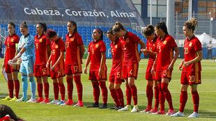Once inicial del último amistoso de España ante Brasil.