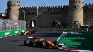 Alonso, en Bakú.