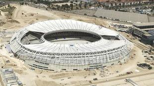 Vista aérea del Wanda Metropolitano.