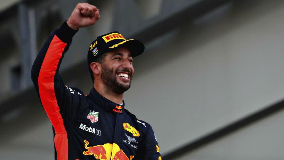 Daniel Ricciardo, después de ganar en Bakú