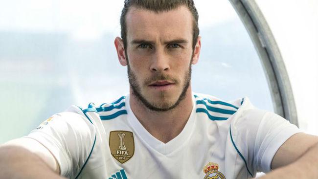 Bale con la nueva equipaci�n del Madrid