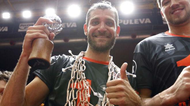 Antoine Diot, en la celebración del título de Liga.