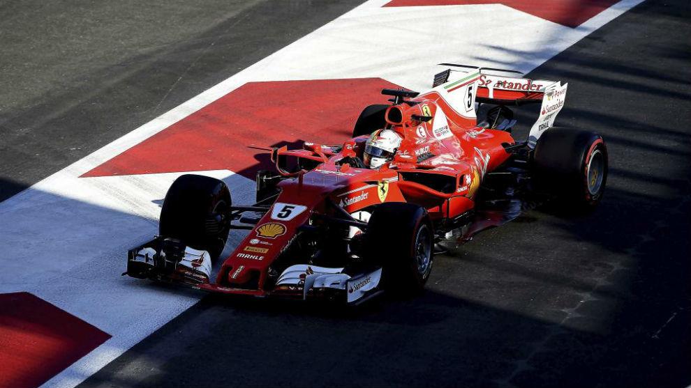 Sebastian Vettel, en Bakú