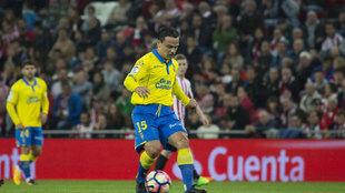 Roque con Las Palmas la temporada pasada
