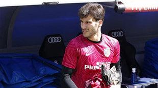 Moreira, antes de un aprtido del Atlético de Madrid