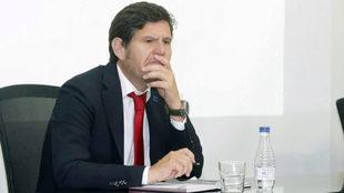 Mateu Alemany durante la presentación de la campaña de abonos.