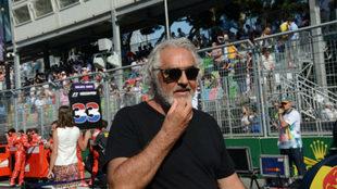 Flavio Briatore, en el pasado Gran Premio de Azerbaiyán.
