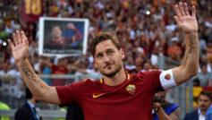 Totti, en su despedida con la Roma.