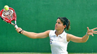 Cata Tenorio, en un entrenamiento.