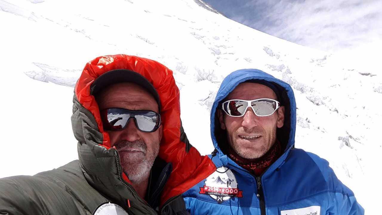 Alberto Zerain con Juanito Oiarzabal.