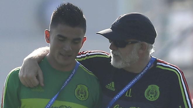 Luis Reyes después del entrenamiento del Tri