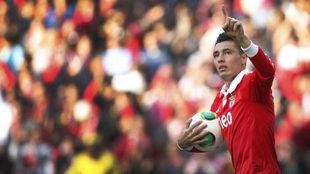 Cardozo, en su época en el Benfica.