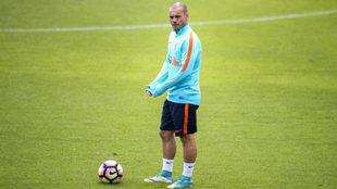 Sneijder, con Holanda.