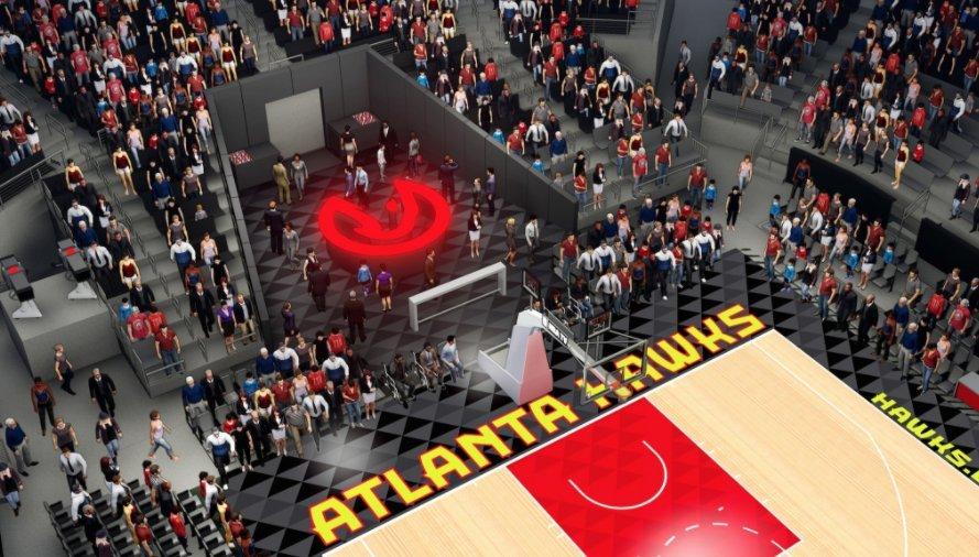 Atlanta Hawks abre el primer bar al pie de pista en la NBA