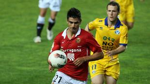 Xisco Campos, durante un partido con el Nàstic de Tarragona.