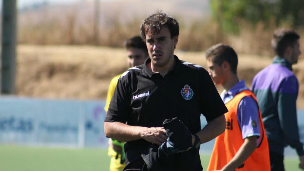 Jonathan Prado, durante un partido con el Real Valladolid
