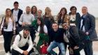 Foto de familia en el aeropuerto de Rosario