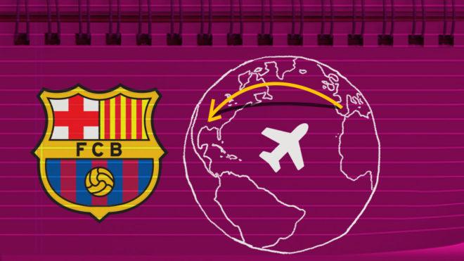 El Barcelona anunció su gira de pretemporada