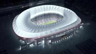 Maqueta del nuevo estadio del Atl�tico, el Wanda Metropolitano