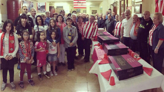Fiesta del primer aniversario de la Peña Sportinguista El Pitu