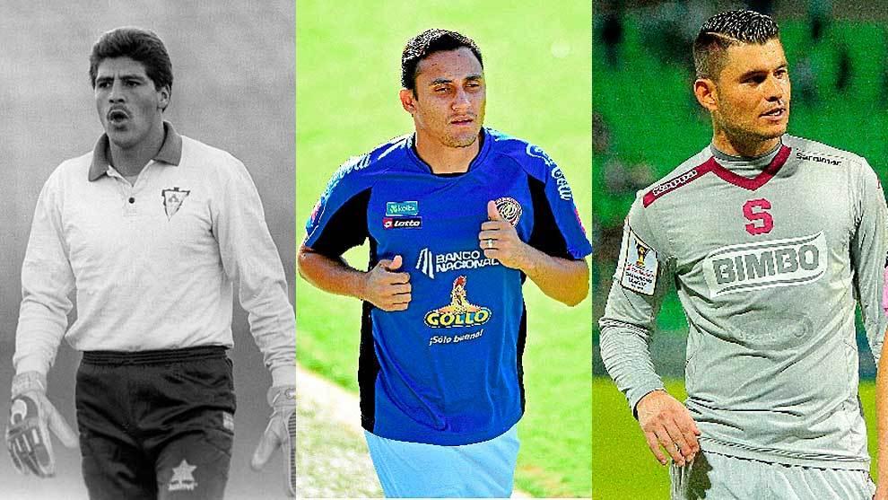 Luis Gabelo Conejo, Keylor Navas y Danny Carvajal