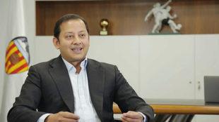 Anil Murthy en su despacho presidencial.