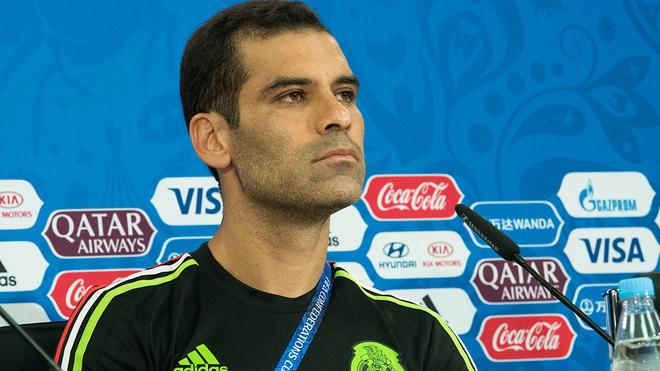 Rafael Márquez, durante conferencia de prensa.
