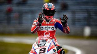 Petrucci pilota una Ducati del equipo Octo Pramac.