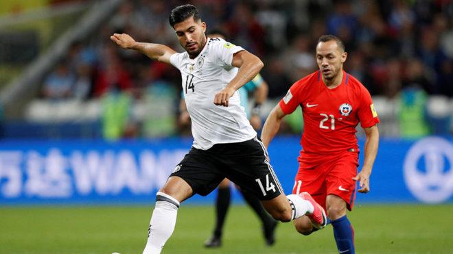 Can durante el juego ante Chile en la fase de grupos