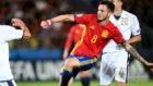 Sa�l, durante el partido de semifinales de la Euro sub 21.