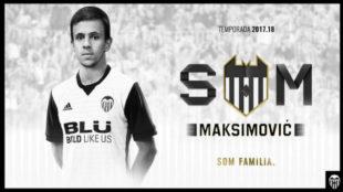 Montaje que el Valencia ha realizado para anunciar el fichaje de...