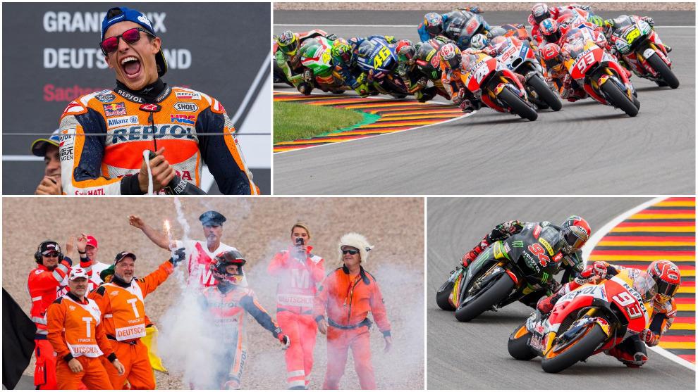 Las mejores imágenes del Gran Premio de Alemania de Moto GP en el...