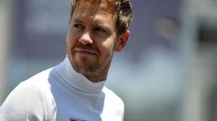 Vettel, en el pasado GP de Azerbaiyán.