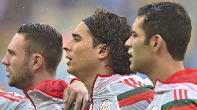 Los jugadores de la selección mexicano