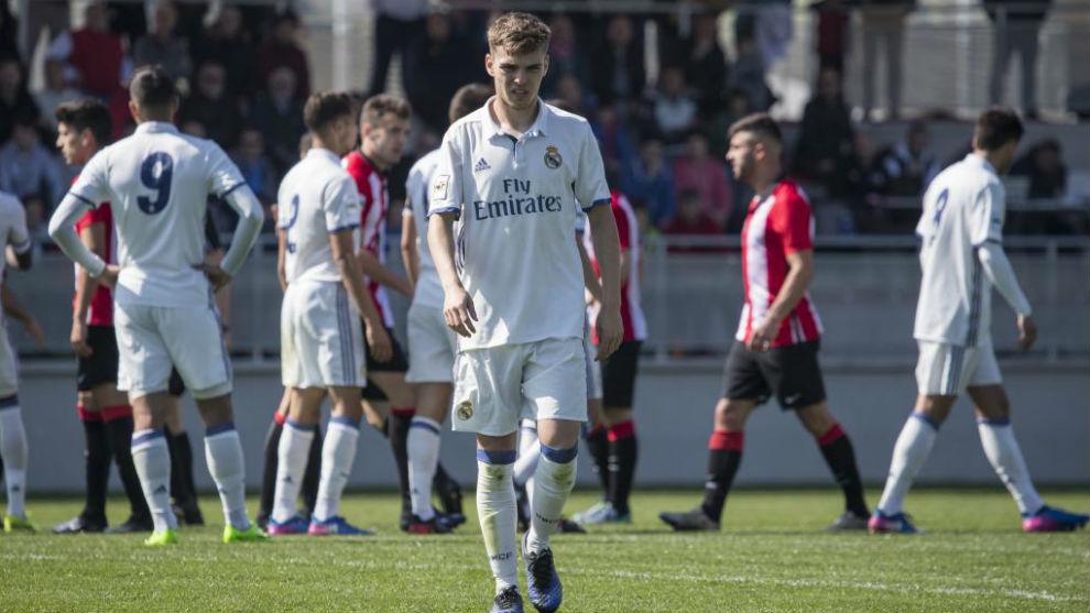 Febas durante un partido con el Castilla el pasado curso