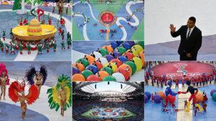 Así de colorido fue el espectáculo de la clausura de la Copa Confederaciones