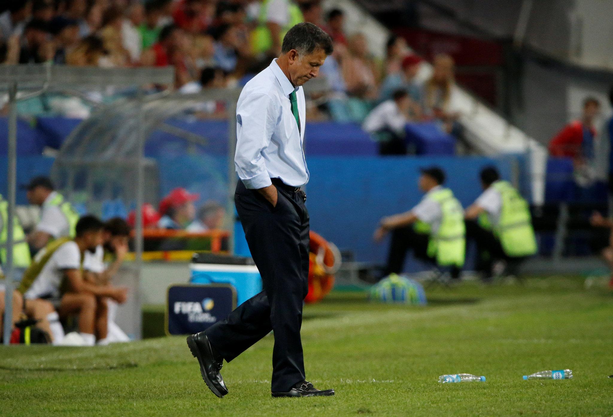 Juan Carlos Osorio durante las semifinales de la Copa Confederaciones.