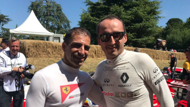 Kubica en Goodwood