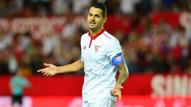 Vitolo, durante un partido con el Sevilla.