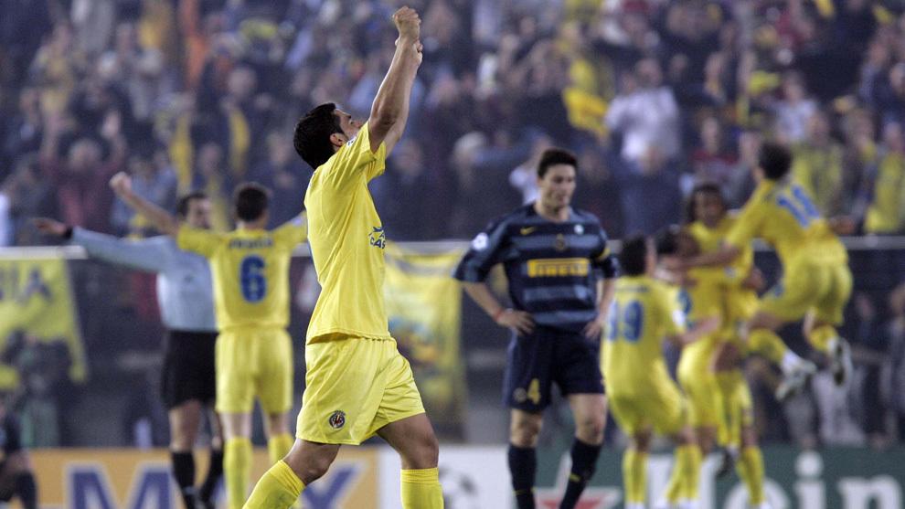 Euforia en El Madrigal tras eliminar al Inter (Foto vía marca.com)