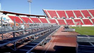 Una de las tribunas del estadio Iberostar en Palma de Mallorca.