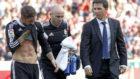 El doctor Jes�s Olmo, a la derecha en traje, junto a Sergio Ramos.