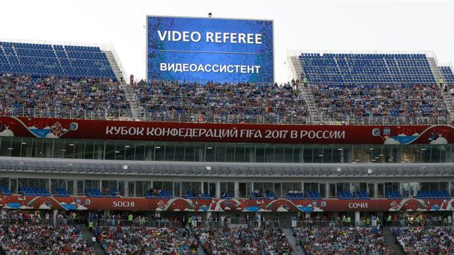 Se implementó la tecnología en la Copa Confederaciones.